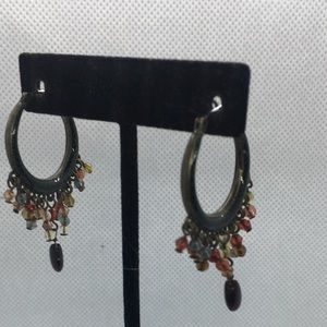 4 for $12: Beaded Fringe Hoop Earrings